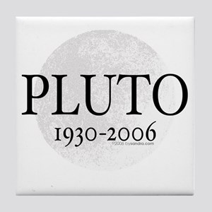 Goodbye Pluto Tile Coaster
